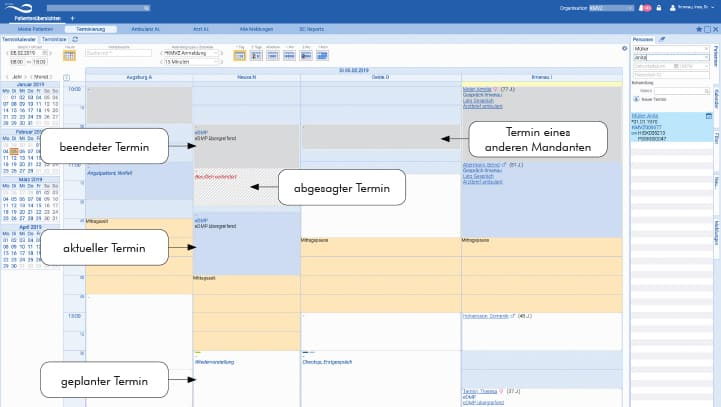 Termin- & Ressourcenmanagement Praxissoftware principa
