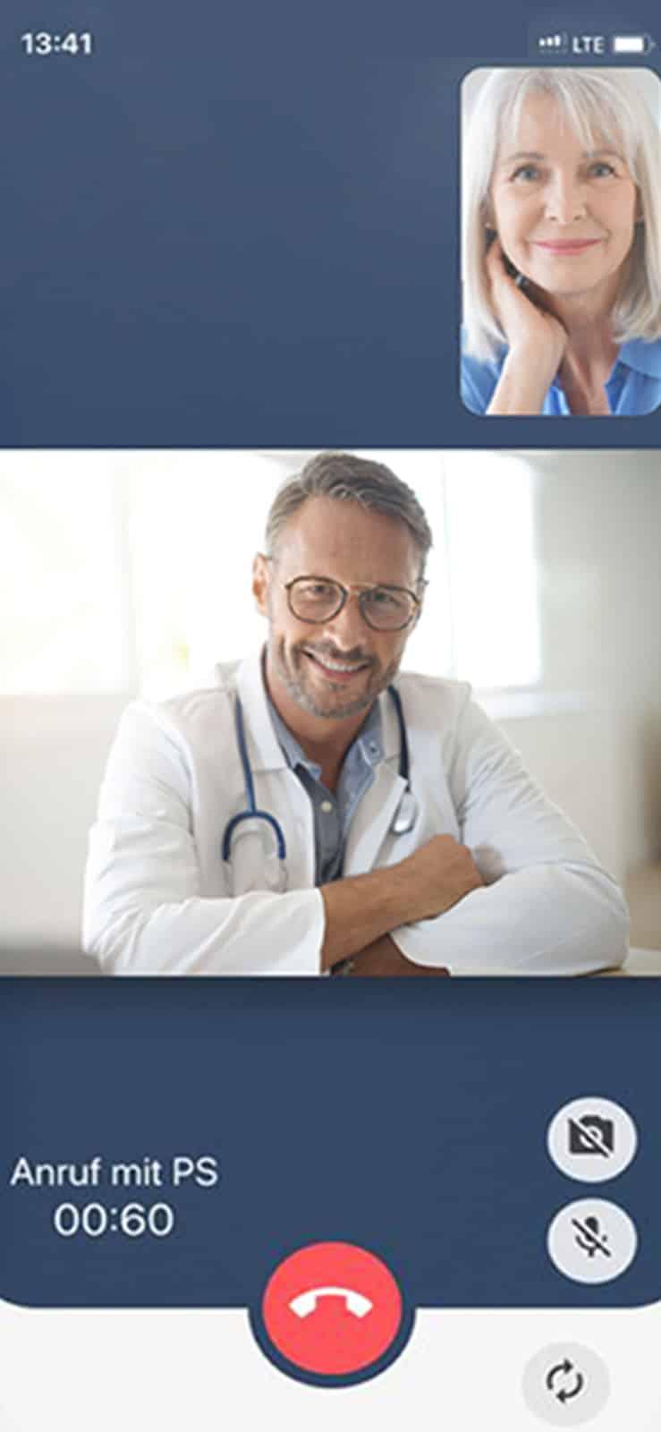 Screenshot principa Patientenapp